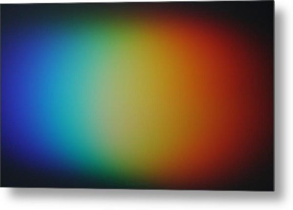 Light Refracted - Rainbow Through Prism Metal Print by Denise Beverly
