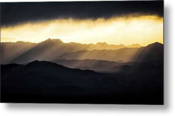 Light Shines In Metal Print