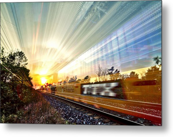 Light Speed Metal Print