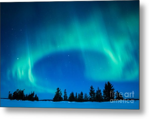 Light Swirl On Rainy Lake Metal Print
