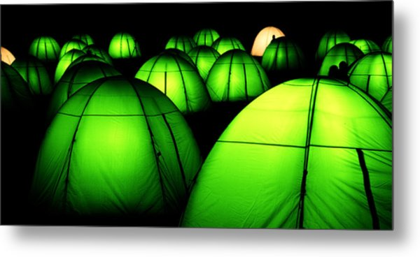 Light Tents Variation Five Metal Print