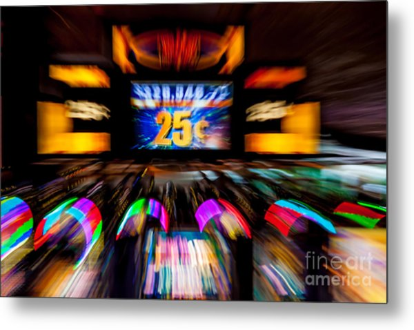 Light Trails Abstract 8 Metal Print