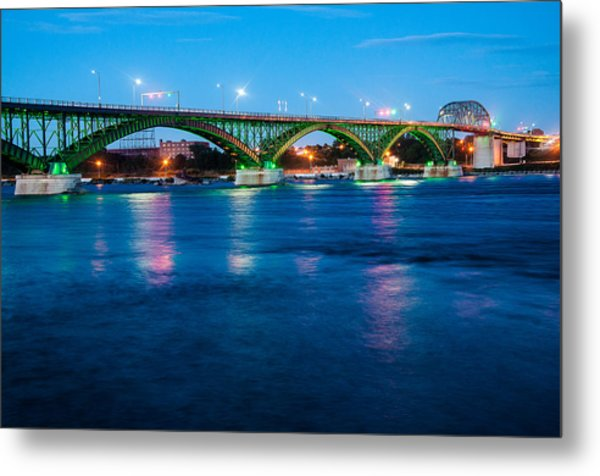 Light Up The Peace Bridge Metal Print