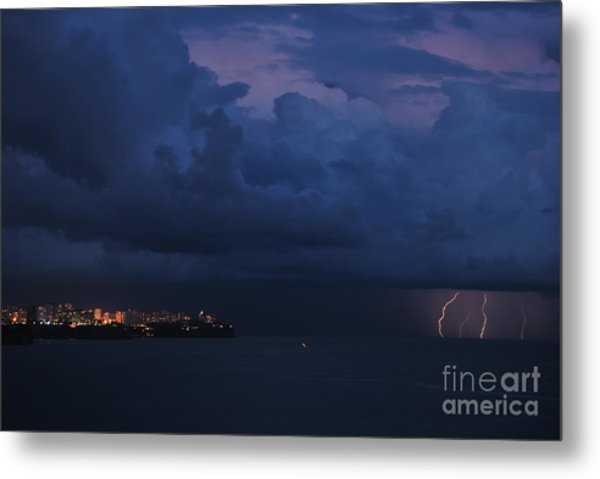 Lightening Metal Print