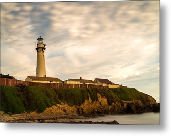 Lighthouse And Clouds Metal Print