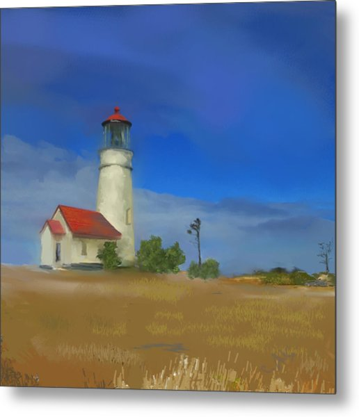 Lighthouse At Cape Blanco Metal Print by Dale Stillman