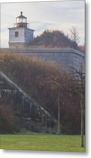 Lighthouse At Fort Rodman Metal Print