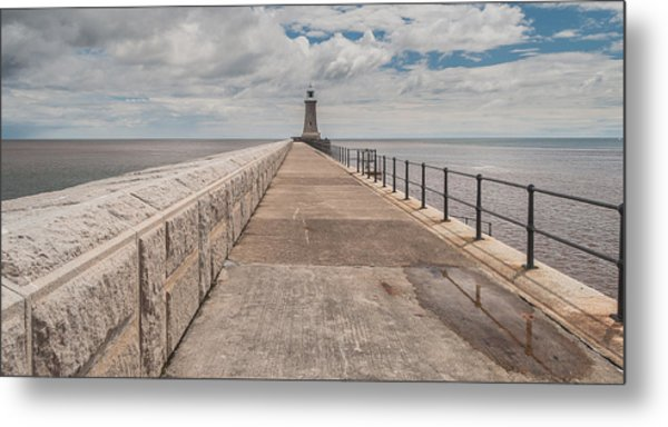 Lighthouse In North Shields Metal Print