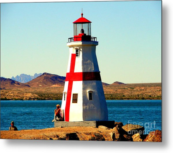 Lighthouse Lake Havasu Metal Print by John Potts