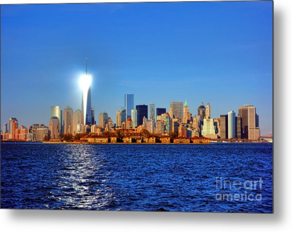 Lighthouse Manhattan Metal Print