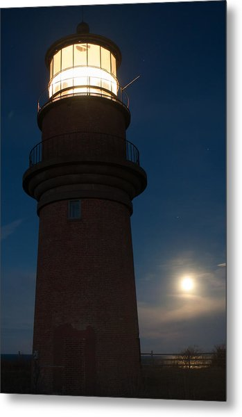 Lighthouse Moon Metal Print