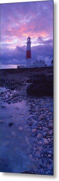 Lighthouse On The Coast, Portland Bill Metal Print