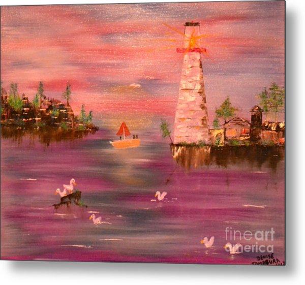 Lighthouse Serenade Metal Print