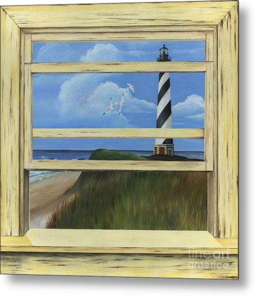 Lighthouse Window Metal Print