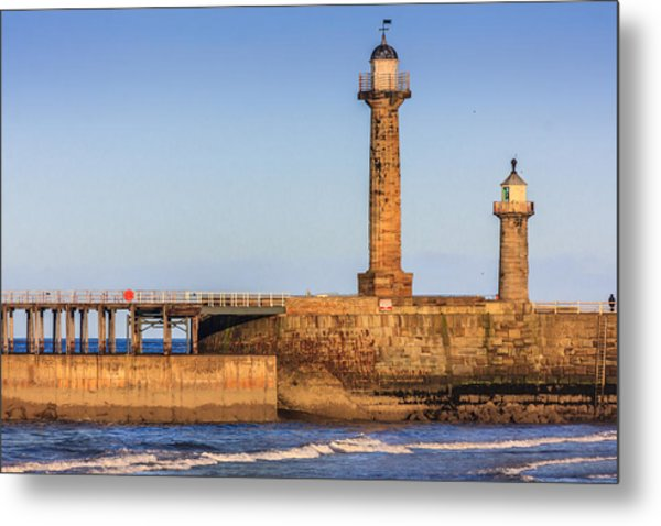 Lighthouses On The Piers Metal Print