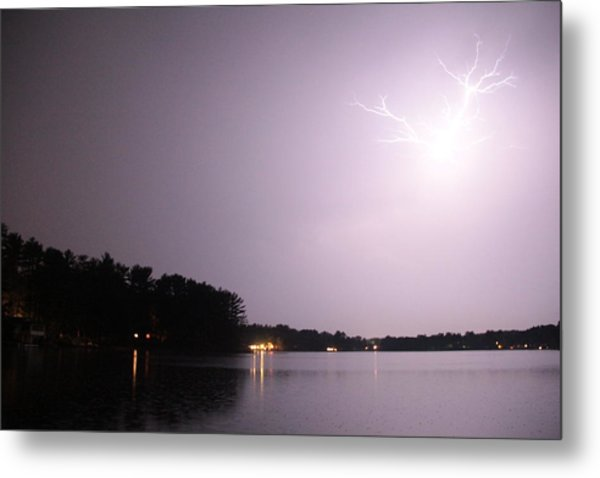 Lighting Up The Sky Metal Print by Sarah Klessig