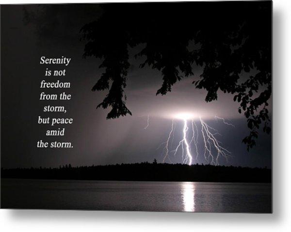 Lightning At Night - Inspirational Quote Metal Print