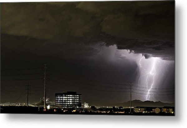 Metal Print featuring the photograph Lightning Over Las Vegas 2 by James Sage