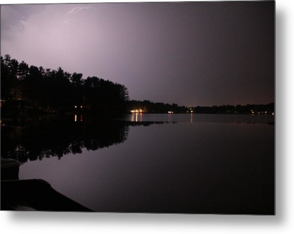 Lightning Over Water Metal Print by Sarah Klessig