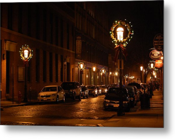 Lights Lowell Ma At Christmas II Metal Print