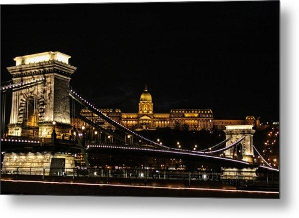 Lights Of Budapest Metal Print