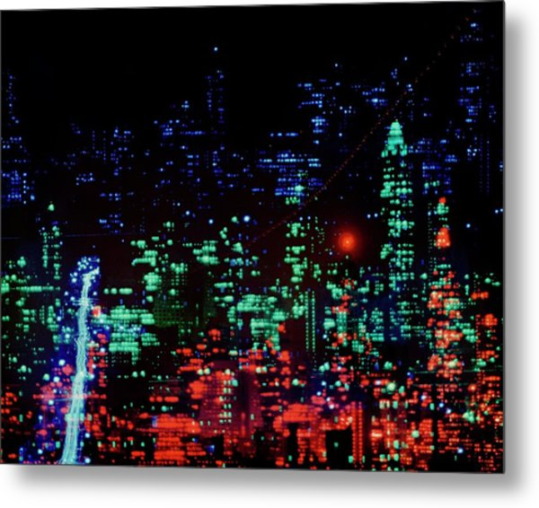 Lights Of New York City Metal Print