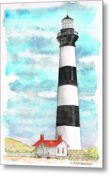 Ligthhouse Bodie Island, North Carolina Metal Print