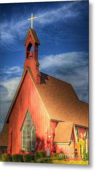 Lil' Church On The Pray're Metal Print