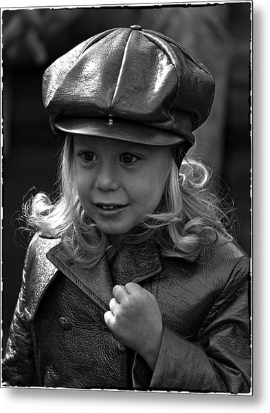 Lil Miss Leather Metal Print by Hal Norman K