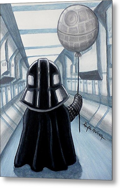 Lil Vader Dreams Big Metal Print