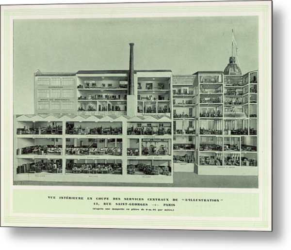 L'illustration  Cross-section Metal Print by Mary Evans Picture Library