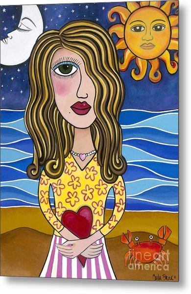 Metal Print featuring the painting Lilly Loves Florida by Carla Bank