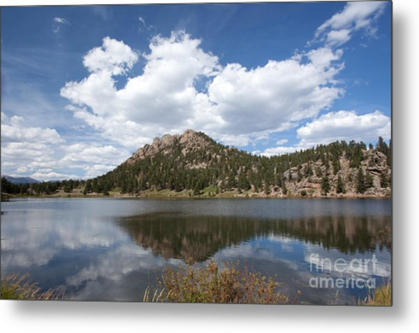 Lily Lake Relection Metal Print