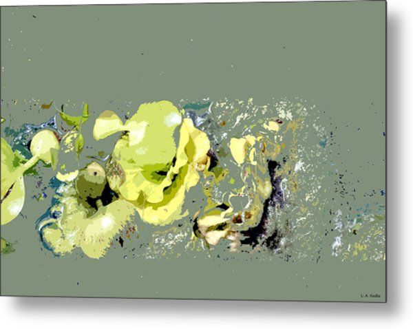 Lily Pads - Deconstructed Metal Print