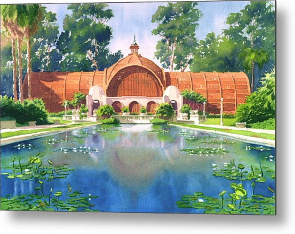 Lily Pond And Botanical Garden Metal Print