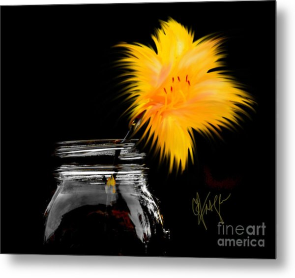 Lily Yellow Metal Print