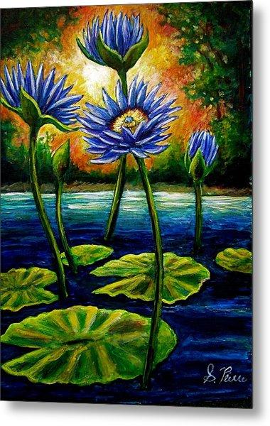 Lilys And Lotus Metal Print by Sebastian Pierre
