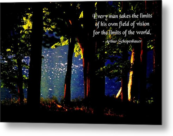 Limits Of Vision Metal Print by Mike Flynn