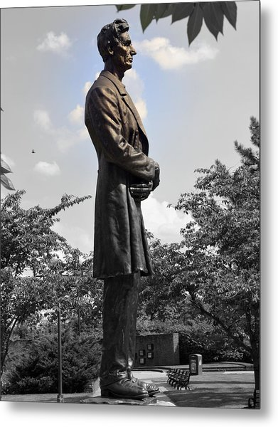 Lincoln At Lytle Park Metal Print