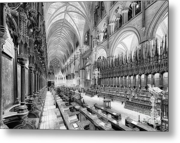 Lincoln Cathedral The Choir I Metal Print