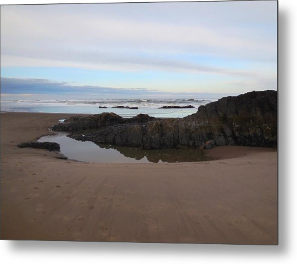 Lincoln City Beach Metal Print