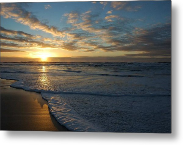 Lincoln City Beach Sunset Metal Print