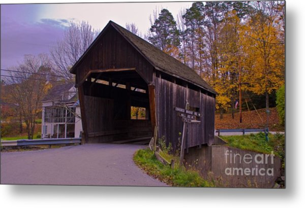 Lincoln Gap Covered Bridge.  Metal Print