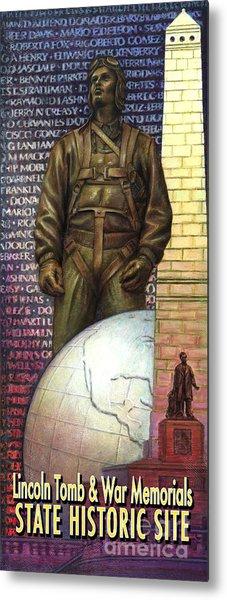 Lincoln Tomb And War Memorials Street Banners Korean War Pilot Metal Print