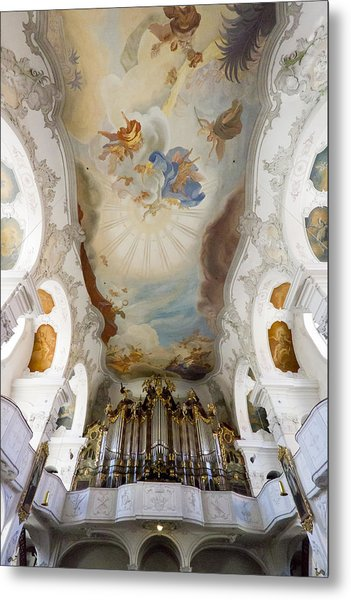 Lindau Organ And Ceiling Metal Print