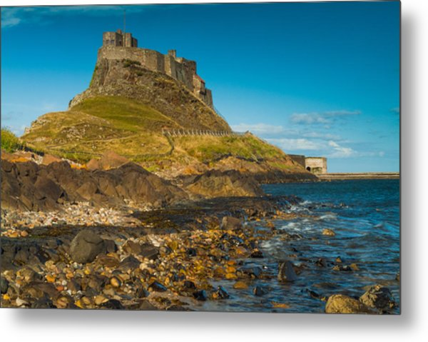 Lindisfarne Castle Metal Print by David Ross