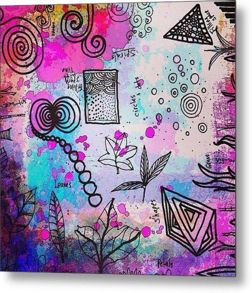 #line #color #shape #design #doodles Metal Print