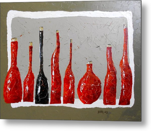 Line Of Wine Metal Print