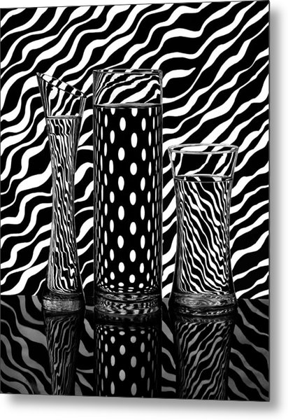 Lines Or Dots... Metal Print by Louis-philippe Provost