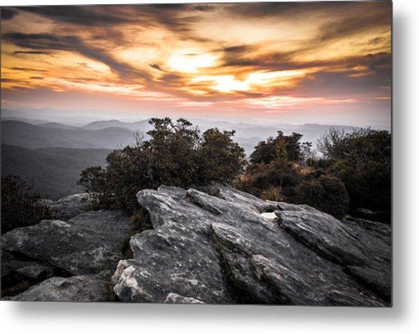 Linville Gorge Sunrise Metal Print